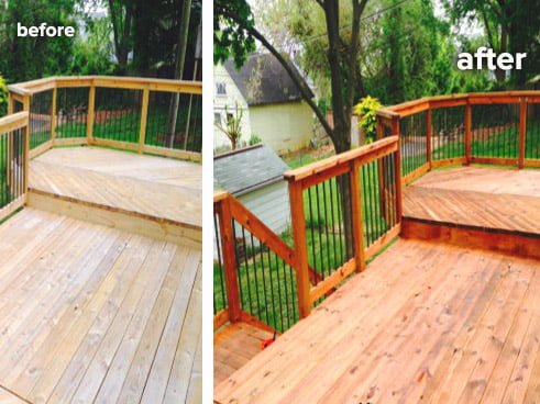 Residential Deck Wash Stain All Touch Power Wash - Power Washing Bel Air