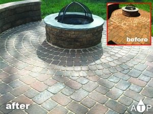 Backyard fire pit paver sealing | Perry Hall