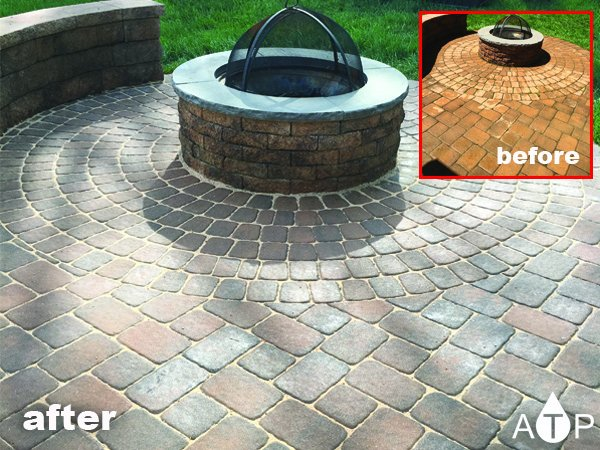 Backyard fire pit paver sealing | Perry Hall
