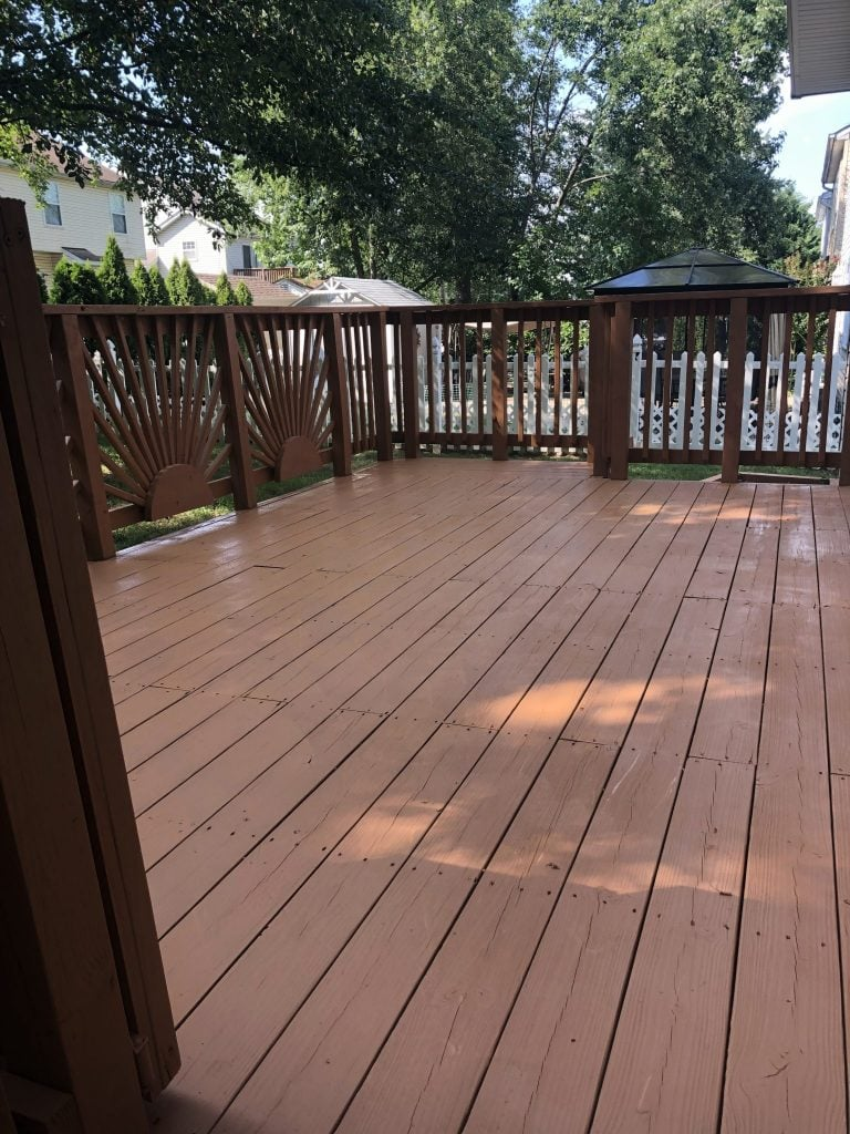 Deck staining picture