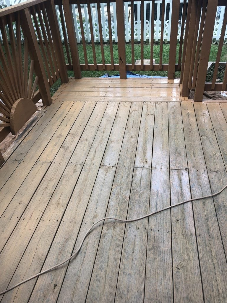Deck with old finish sanded off