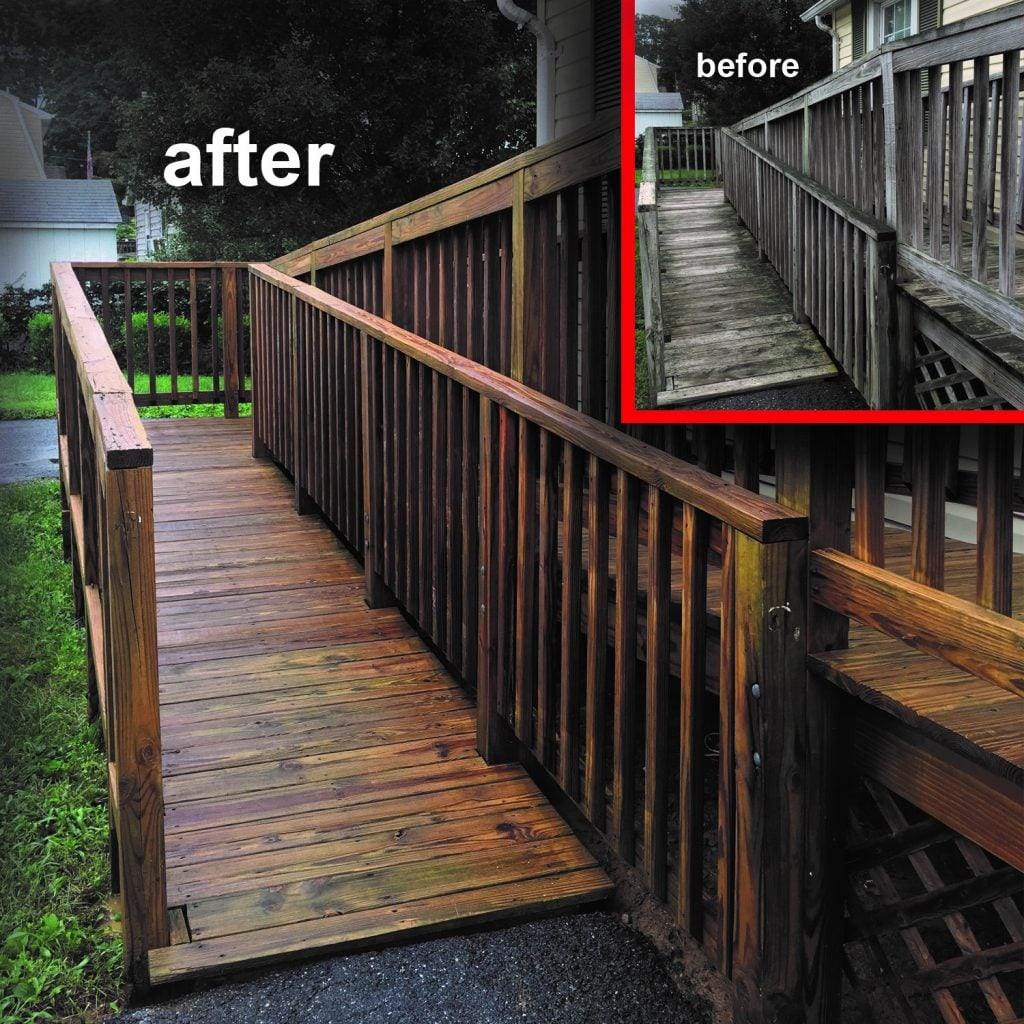 handicap walkway before and after