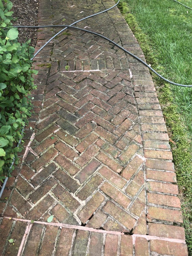 Paver pressure washing