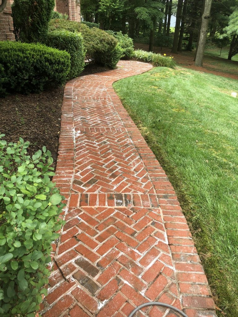 paver walkway cleaning